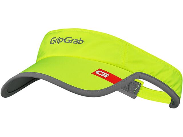 GripGrab Running Visor Hi-Vis Hi-Vis Hardloop Visor Cap, fluo yellow